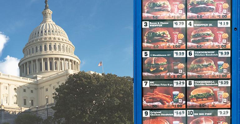 Senators advocate year delay on menu labeling
