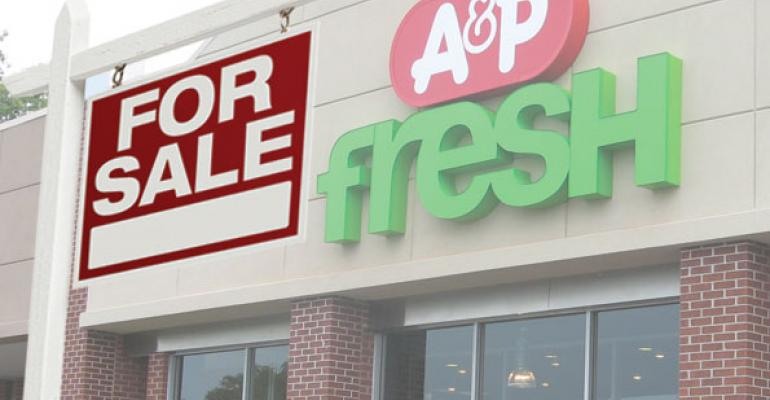 A&P files for bankruptcy again