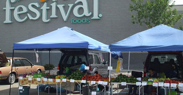 In the summer Festival Foods hosts farmers39 markets in store parking lots Photo courtesy of Festival Foods