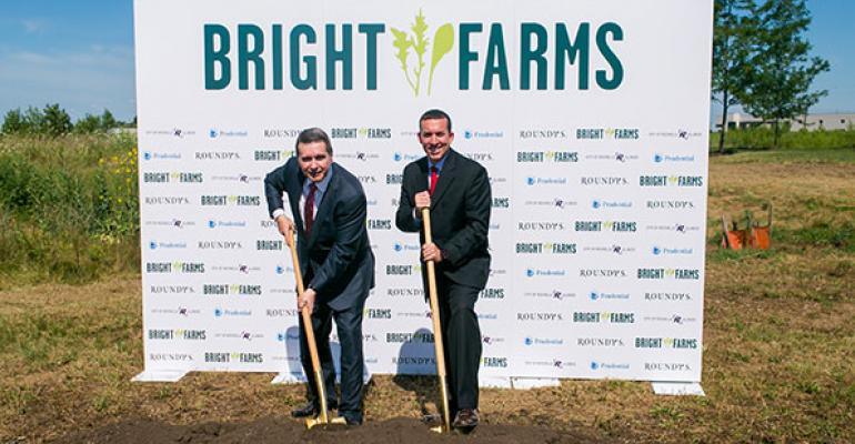 Roundy39s CEO Bob Mariano and BrightFarms CEO Paul Lightfoot broke ground on the greenhouse on Thursday Photo courtesy of BrightFarms