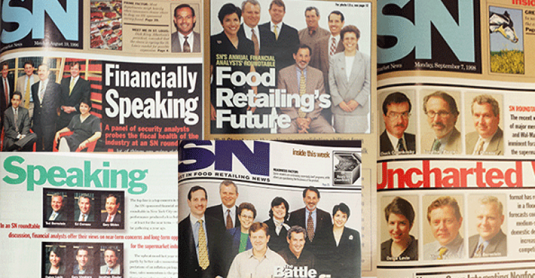 20 years of supermarket history as reflected in SN's Financial Analysts Roundtable