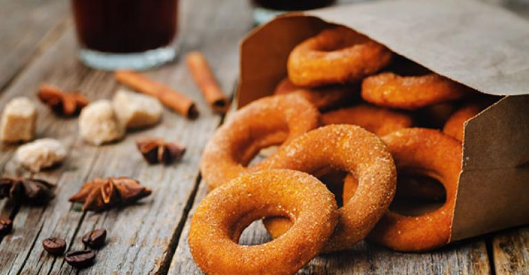 Seasonal items like pumpkin doughnuts are popular throughout fall Photo by Thinkstock