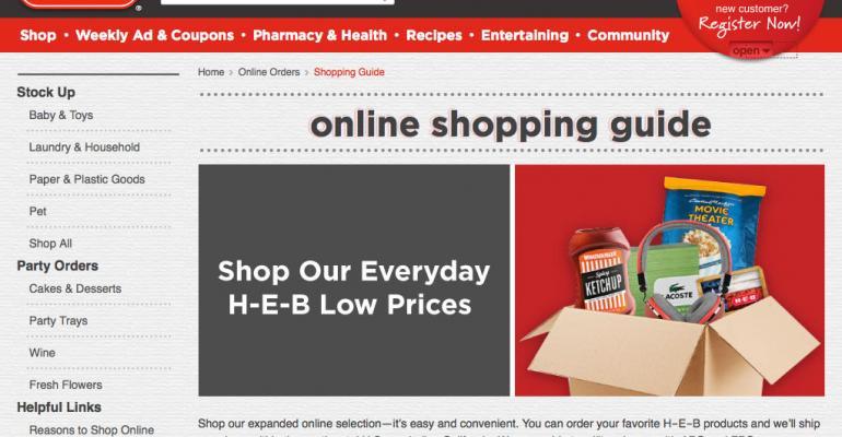H-E-B opens online store