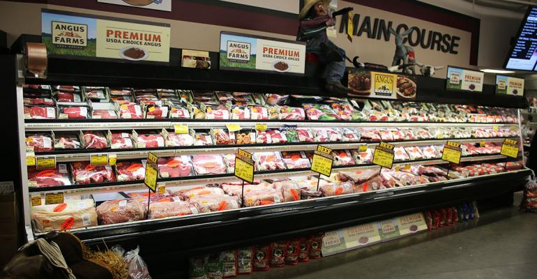 The meat department at Krause39s Market highlighted beef from Angus Farms