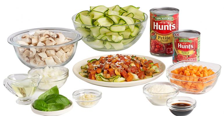 One of Peapod39s new kits is Zucchini Noodles with Fresh Veggie Primavera by Hunt39s Photo courtesy of Peapod