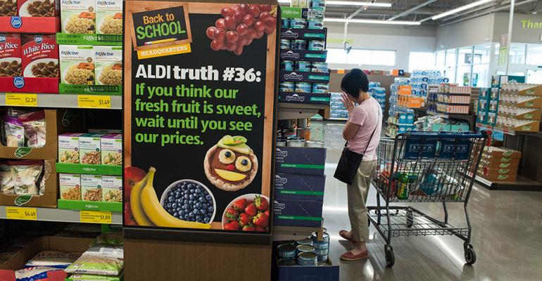 Aldi draws more than 32 million customers to its 1500 stores in 34 states