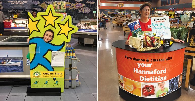 Hannaford healthy living manager Julie Greenersquos daughter Anna pictured at left was born the same week that the Guiding Stars program launched in 2006 Also customers can attend quotmoving classroomsquot right