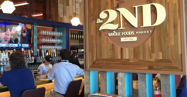 Whole Foods opened the new bar and restaurant inside its El Segundo Calif store