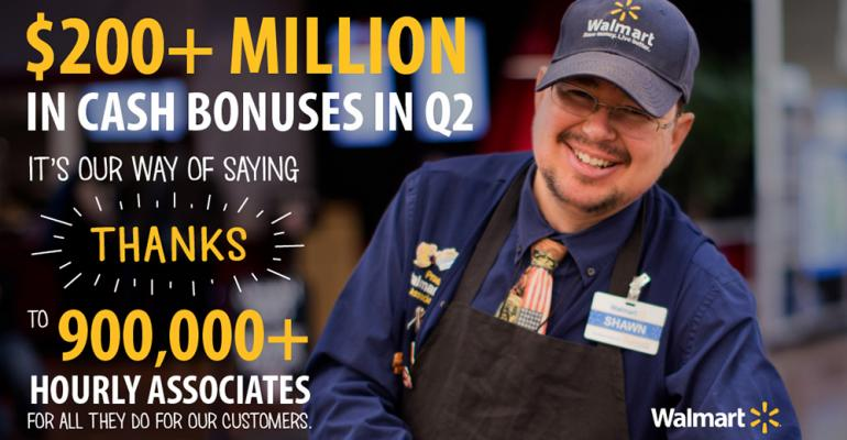 Images playing up the bonus accompanied Walmart39s announcement of the payment to 900000 workers