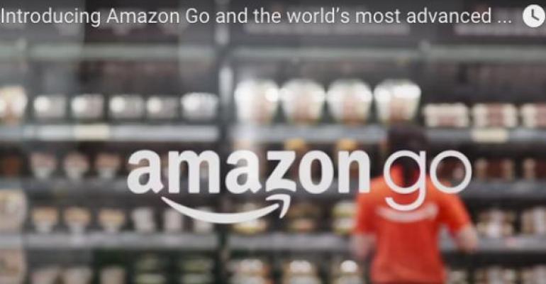 Amazon reveals 'checkout free' food store