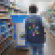 Walmart online grocery worker with cart