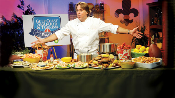 New Orleans' John Besh shared seafood recipes at the Gulf Coast Seafood & Tourism Bash, sponsored by BP during the Allstate BCS Championship.