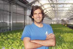 Viraj Puri is CEO of Gotham Greens, a hydroponic greenhouse located on top of a Brooklyn warehouse.