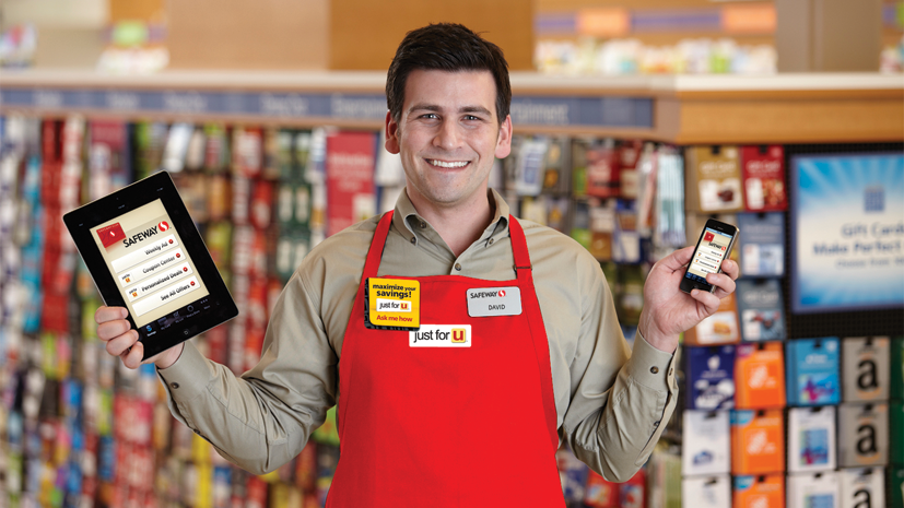 Just for U allows customers to use their mobile devices to download personalized discounts. The program is aligned with Safeway's expanding fuel-rewards program.