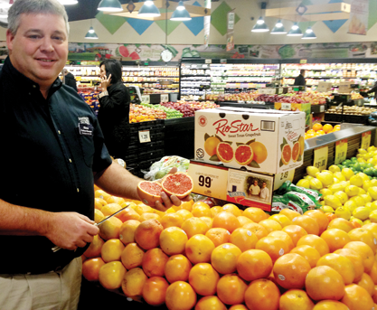 Local Texas grapefruit are a customer winter favorite at United Supermarkets.
