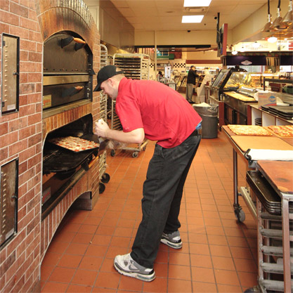 Price Chopper's pizza dough is made in-store.