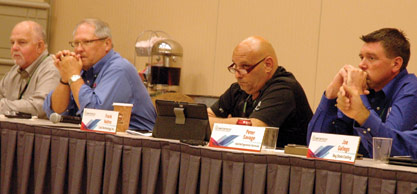 Contractors at the Refrigeration Roundtable included Steve Wright, Wright Bros.; Richard Luhm, Memphis Mechanical; Frank Vadino, Cold Technology; Pete Savage, AAA Refrigeration Services.
