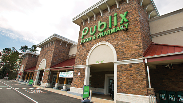Publix operates in six Southeastern states.