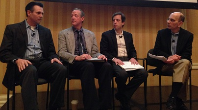 SN's David Orgel (right) moderates the panel discussion on fresh-cut programs.