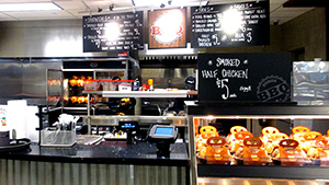 Newer Mariano's stores have a fast casual style restaurant called Todds BBQ.