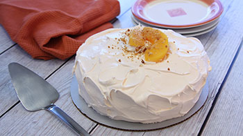 Harmons' peaches and cream cake can only be found in the summer months.