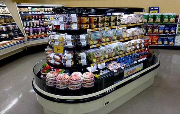 The stores feature an improved grab-and-go selection.