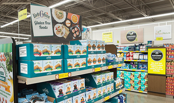 Aldi has adapted its product mix to reflect consumer trends.