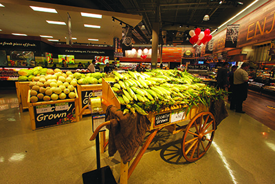 The retailer sources much of its produce from small farms.