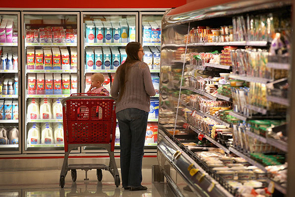 Target says customers are responding to its new focus on food. (Photo by Getty Images)