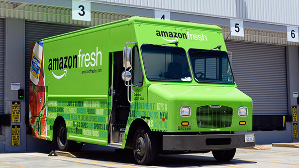 "SpartanNash officials see ""significant growth potential"" with Amazon. (Photo by Getty Images)"