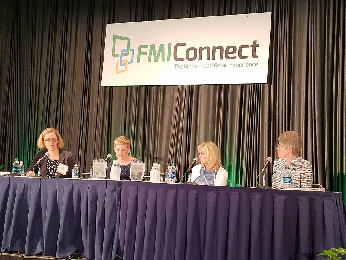 From left: Barb Ledermann, Unilever; Melanie Hansche, Organic Life; Maureen Murphy, Price Chopper/Market32; and Sue Borra, chief health and wellness officer, FMI Foundation.
