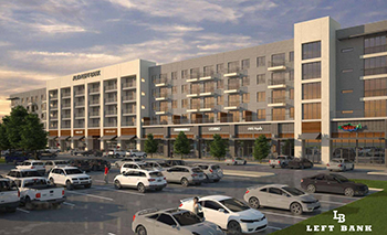 Rendering of Centergy Retail's Left Bank project, which will include the first urban format Tom Thumb.