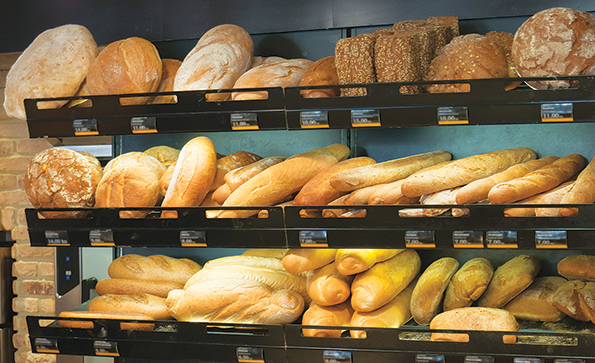 Centralized baking works for bread baking because it creates greater product consistency.