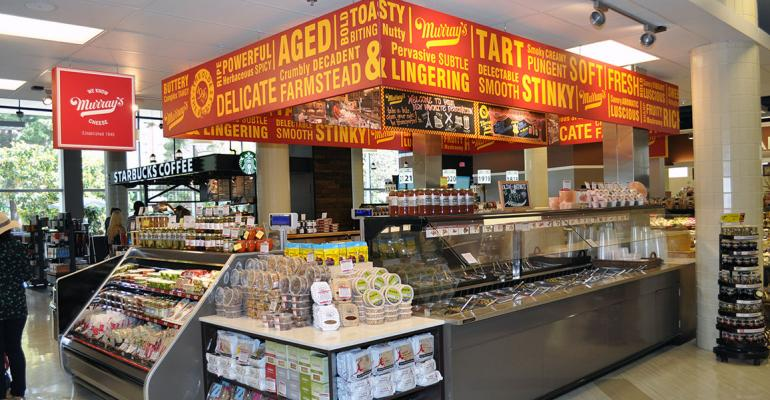 The store contains an outpost of New Yorkrsquos Murrayrsquos Cheese Shop which sells more than 175 kinds of cheese