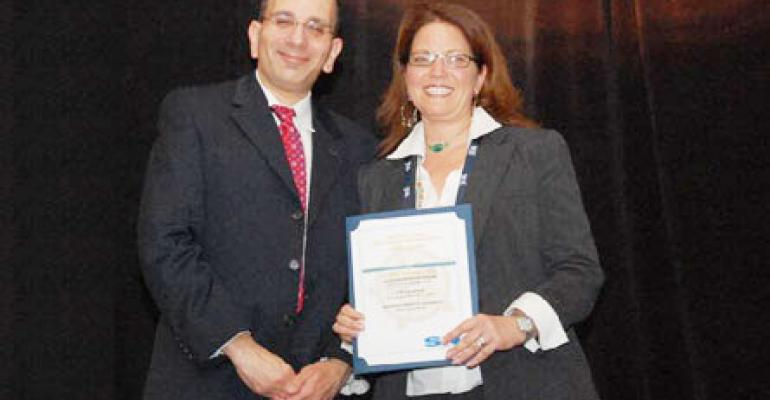 Donna Vaupen accepted the Soup category award on behalf of Campbellrsquos Soup She is Senior Category Manager