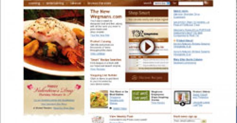 Wegman's New Website