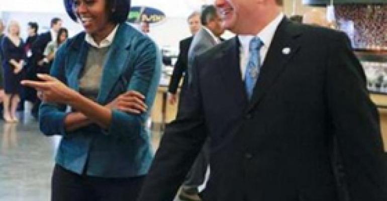 First Lady Michelle Obama Visits The Fresh Grocer