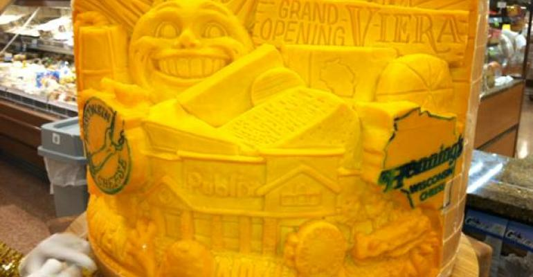 Publix Marks Hybrid Opening With Cheese Sculpture
