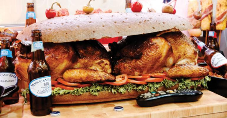 One attentiongetter was this colossal turkey sandwich in the quotMan Cavequot