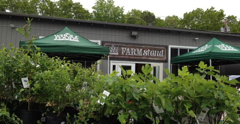 Whole Foods Michael Sinatra posted a photo of the popup FARM stand to Twitter