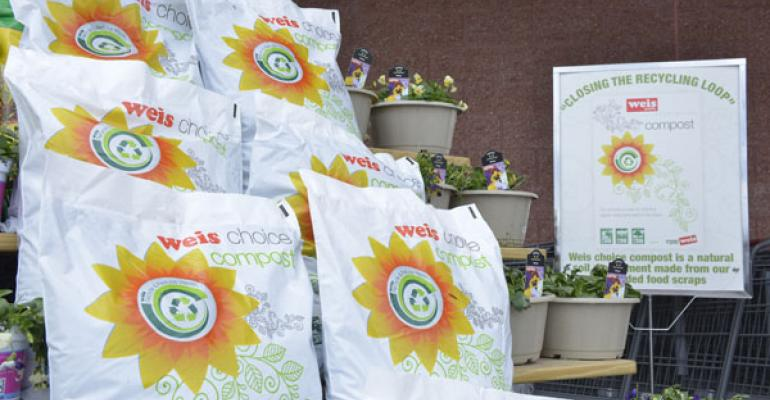 Each bag of Weis Choice compost has a net weight of about 20 pounds and sells for 5