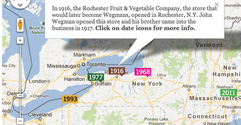 Map: Historic Sites in Wegmans' History