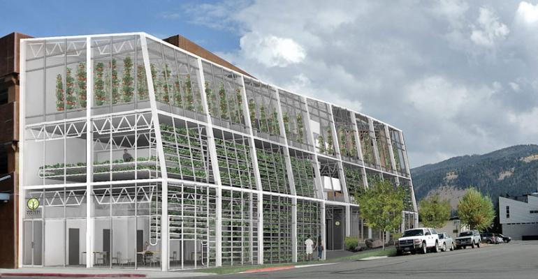 A rendering of a planned Venture Harvest greenhouse in Wyoming
