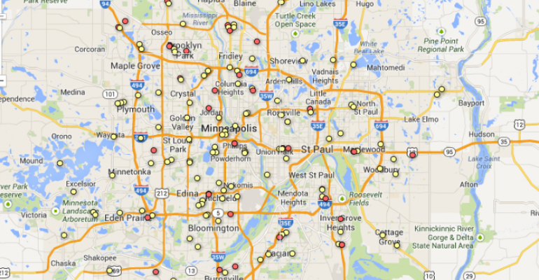 Wal-Mart, Aldi Face Off Against Established Minneapolis Retailers [With Map]