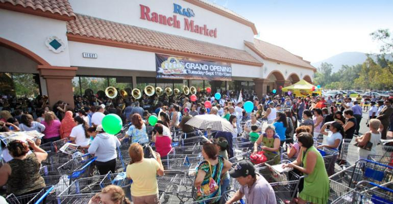 Rio Ranch Market drew a huge crowd to the grand opening of its store in Fontana Calif last year