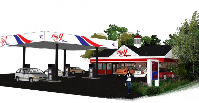 The inaugural Big Y Express in Lee Mass will be the chains first venture in fuel retailing