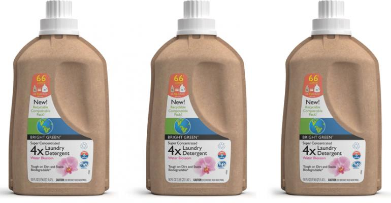 The laundry detergent bottle39s shell is made from 100 recycled materials and is itself recyclabe