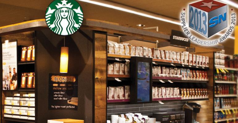 Starbucks: 2013 Supplier Leadership Award Winner for POS Merchandising