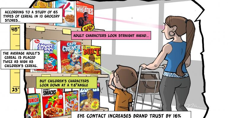 Eye contact from store shelves can influence purchases, researchers say