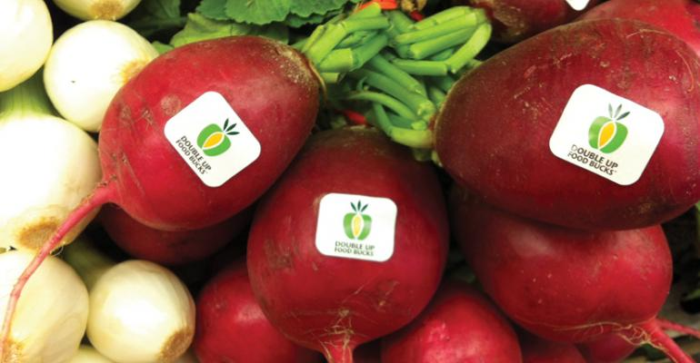 Participants can only use their credit to buy local produce